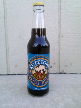 Kutztown Root Beer Glass Bottle